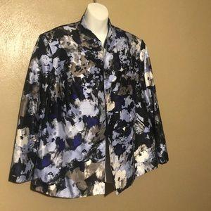 Kasper buttonless flowered blazer size 20W